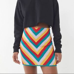 UO Chevron Knit Mini Skirt NWOT